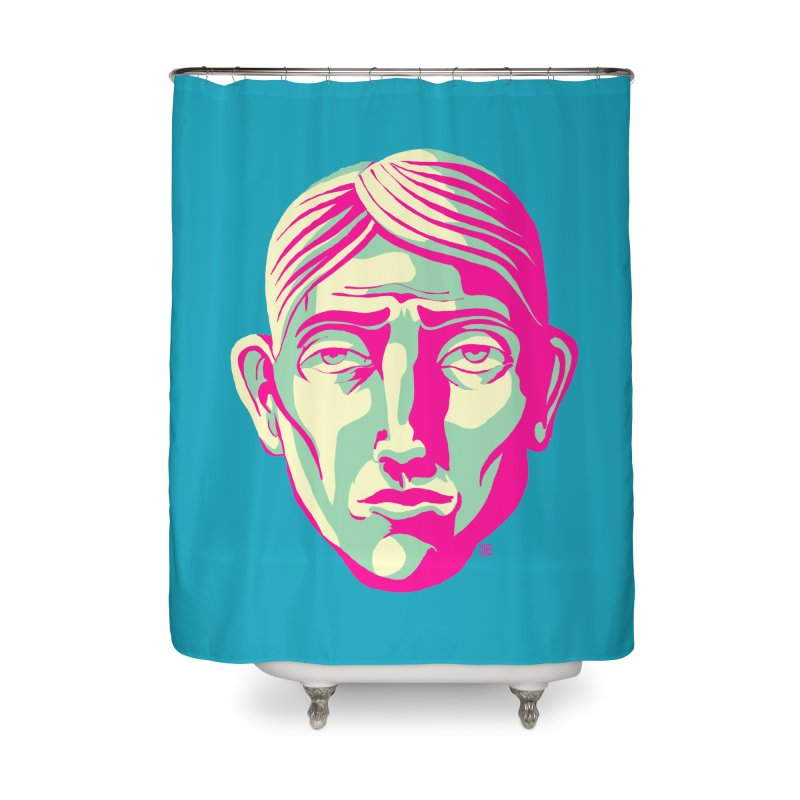Face Me (The Blues) Home Shower Curtain by michaeljhildebrand's Artist Shop