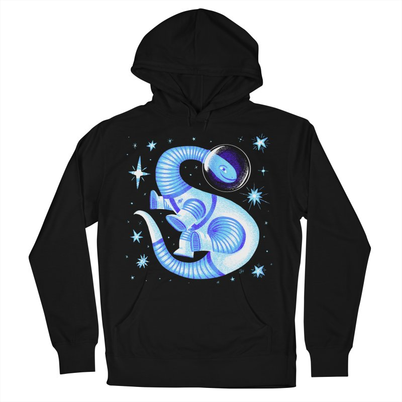 Fuzz, the Space Dino, from Galaxy Team Force Squad Ultra Zero Bravo Women's French Terry Pullover Hoody by Michael J Hildebrand's Artist Shop