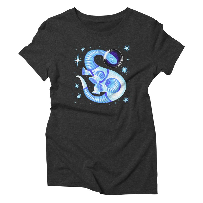Fuzz, the Space Dino, from Galaxy Team Force Squad Ultra Zero Bravo Women's Triblend T-Shirt by Michael J Hildebrand's Artist Shop