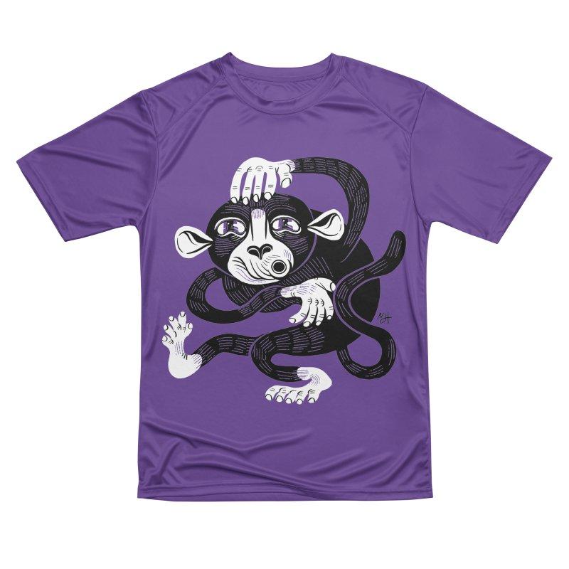 Monkey Me Men's Performance T-Shirt by Michael J Hildebrand's Artist Shop