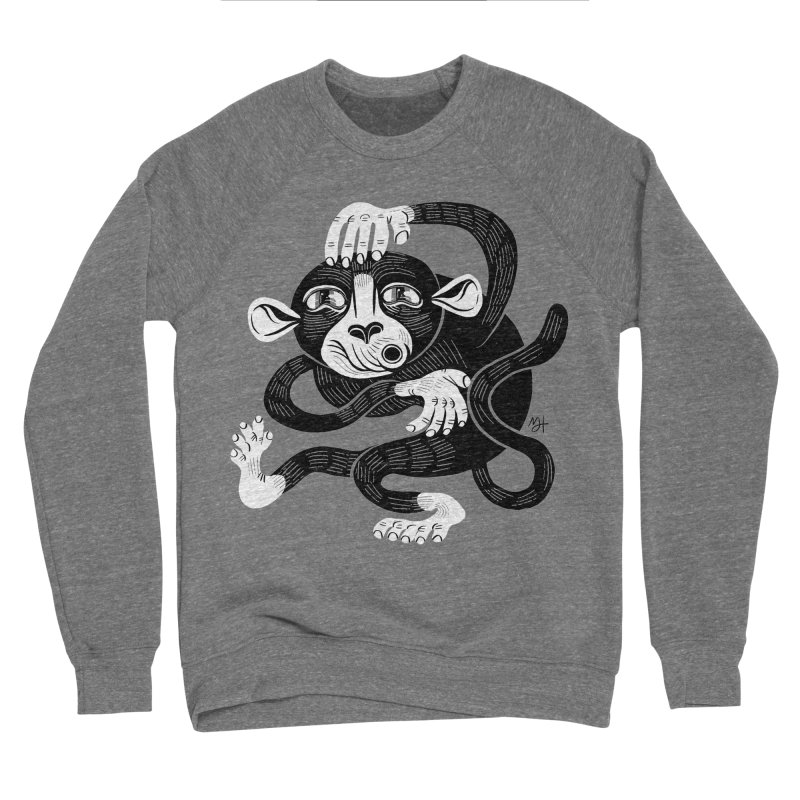 Monkey Me Men's Sponge Fleece Sweatshirt by Michael J Hildebrand's Artist Shop