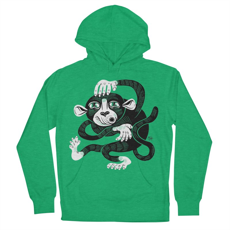 Monkey Me Women's French Terry Pullover Hoody by Michael J Hildebrand's Artist Shop