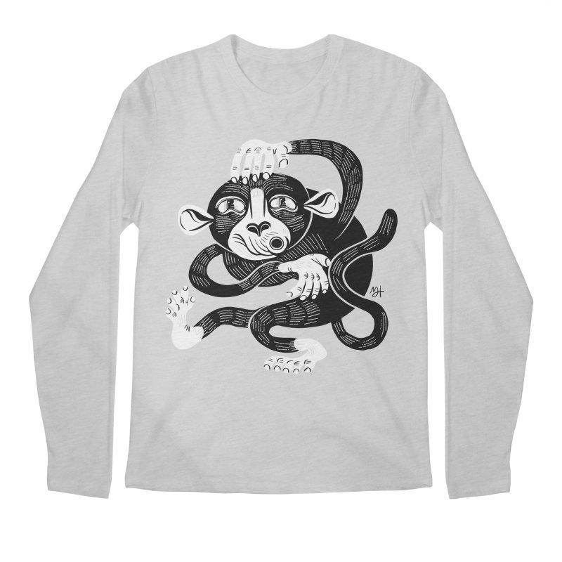 Monkey Me Men's Regular Longsleeve T-Shirt by Michael J Hildebrand's Artist Shop
