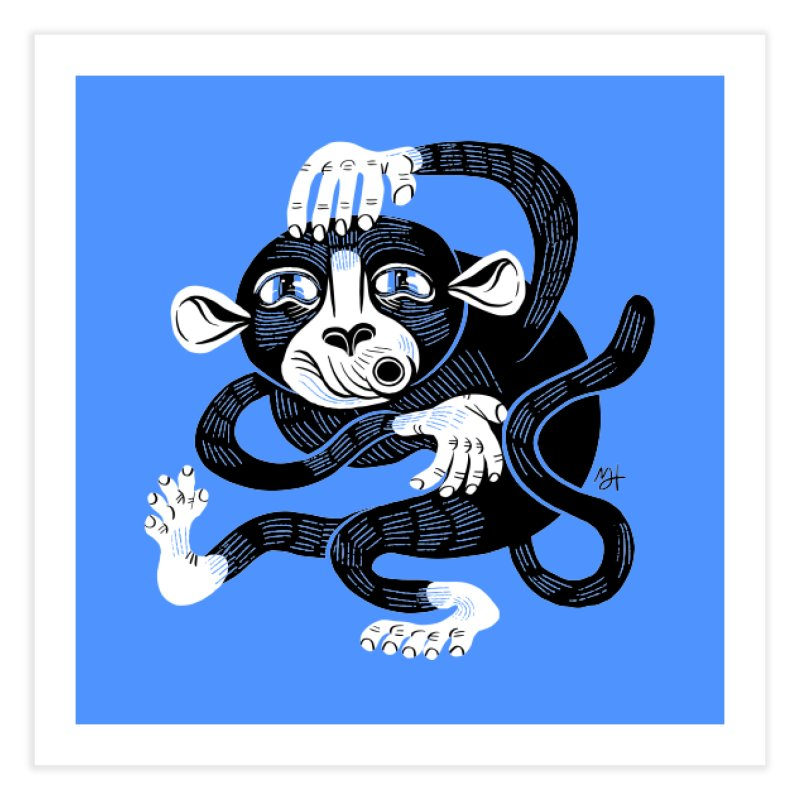 Monkey Me Home Fine Art Print by Michael J Hildebrand's Artist Shop