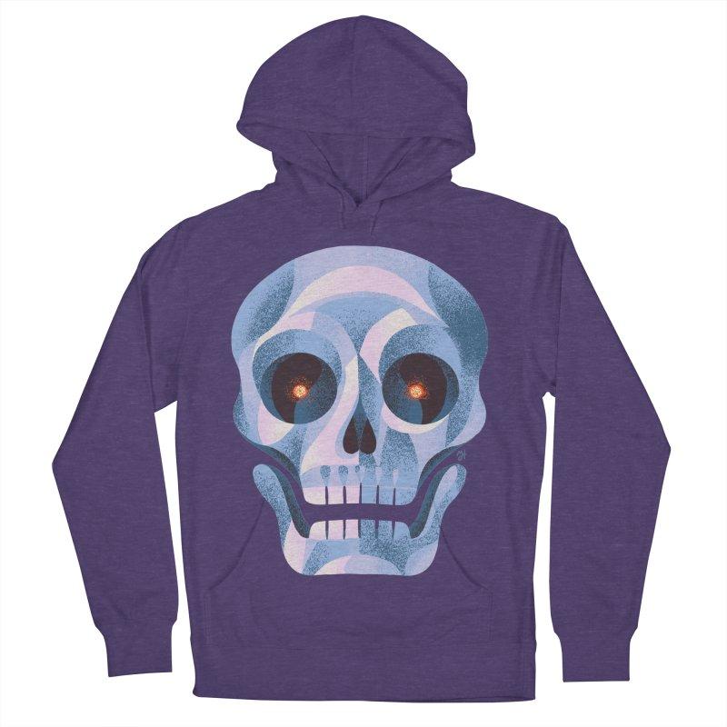 Spoooky Skull Women's French Terry Pullover Hoody by Michael J Hildebrand's Artist Shop