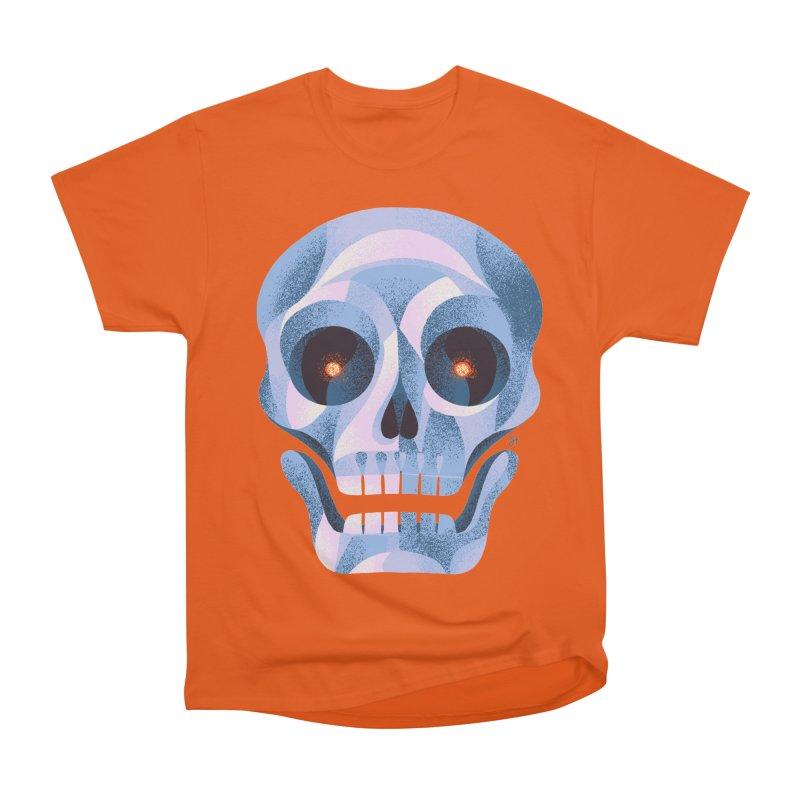 Spoooky Skull Women's Heavyweight Unisex T-Shirt by Michael J Hildebrand's Artist Shop