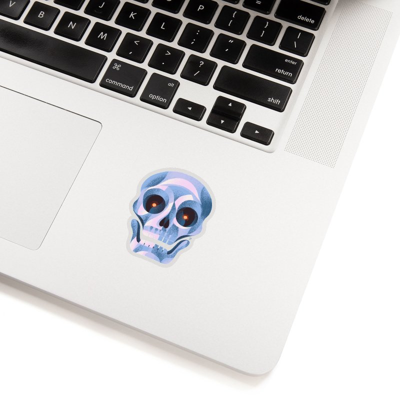 Spoooky Skull Accessories Sticker by Michael J Hildebrand's Artist Shop
