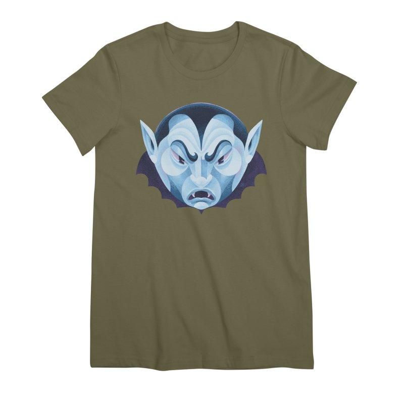 Spoooky Vampire Women's Premium T-Shirt by Michael J Hildebrand's Artist Shop