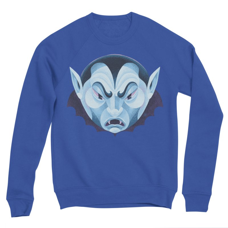 Spoooky Vampire Men's Sponge Fleece Sweatshirt by Michael J Hildebrand's Artist Shop