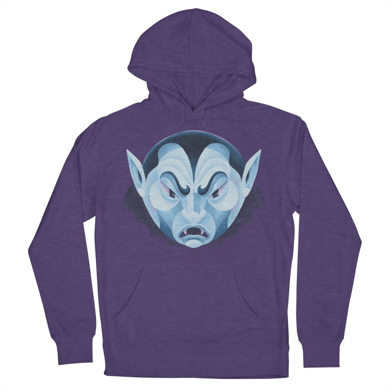 Spoooky Vampire Men's French Terry Pullover Hoody by Michael J Hildebrand's Artist Shop