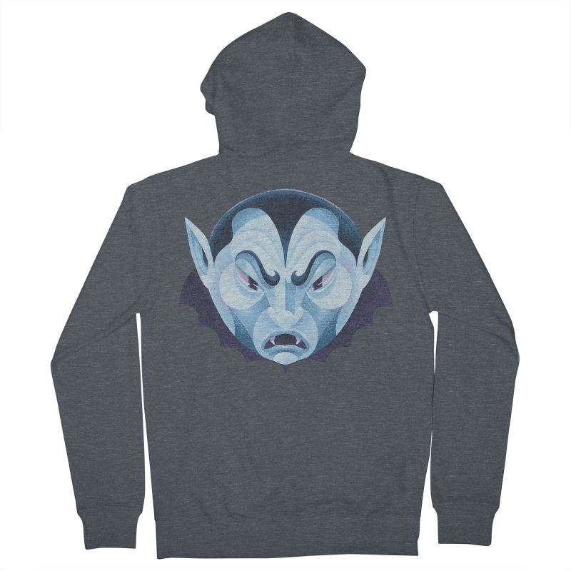 Spoooky Vampire Women's French Terry Zip-Up Hoody by Michael J Hildebrand's Artist Shop