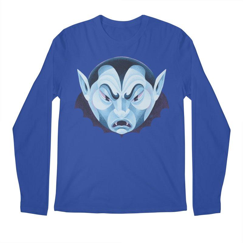 Spoooky Vampire Men's Regular Longsleeve T-Shirt by Michael J Hildebrand's Artist Shop