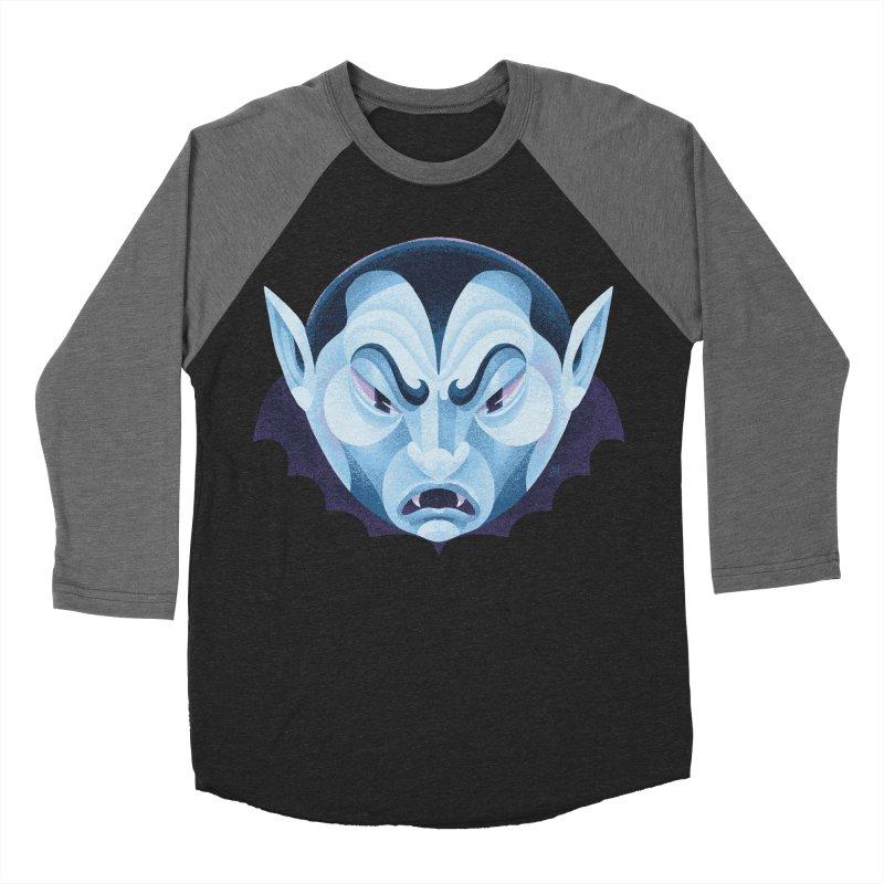 Spoooky Vampire Women's Baseball Triblend Longsleeve T-Shirt by Michael J Hildebrand's Artist Shop