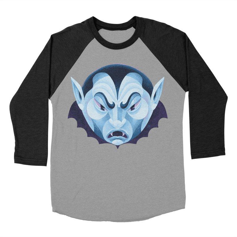 Spoooky Vampire Men's Baseball Triblend Longsleeve T-Shirt by Michael J Hildebrand's Artist Shop