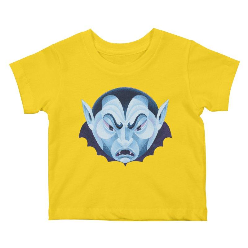 Spoooky Vampire Kids Baby T-Shirt by Michael J Hildebrand's Artist Shop