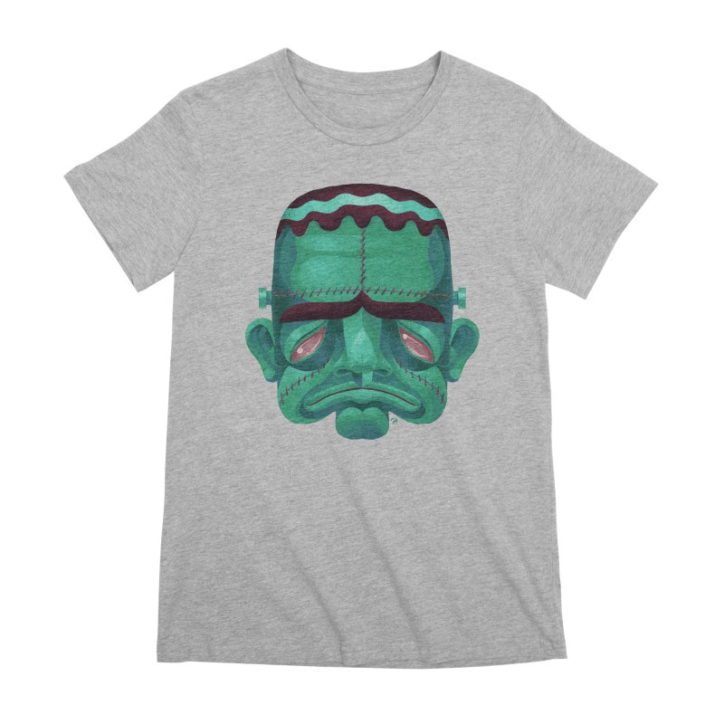 Spoooky Frank Women's Premium T-Shirt by Michael J Hildebrand's Artist Shop