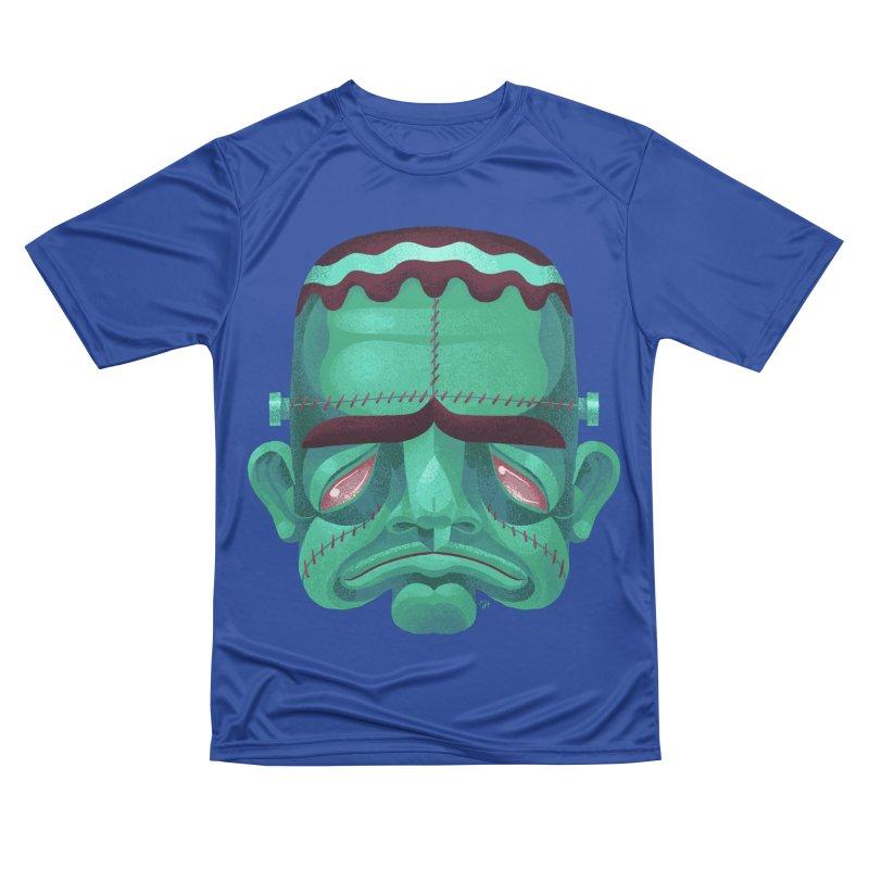 Spoooky Frank Men's Performance T-Shirt by Michael J Hildebrand's Artist Shop