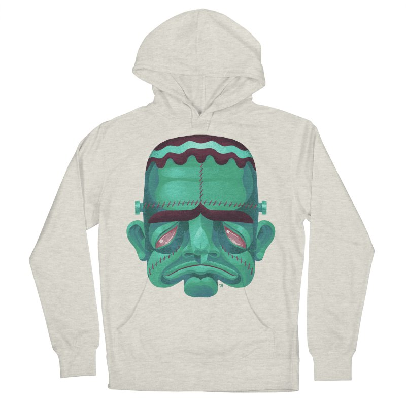 Spoooky Frank Men's French Terry Pullover Hoody by Michael J Hildebrand's Artist Shop