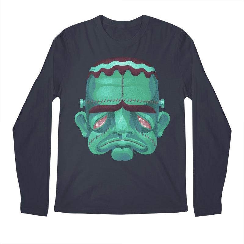 Spoooky Frank Men's Regular Longsleeve T-Shirt by Michael J Hildebrand's Artist Shop