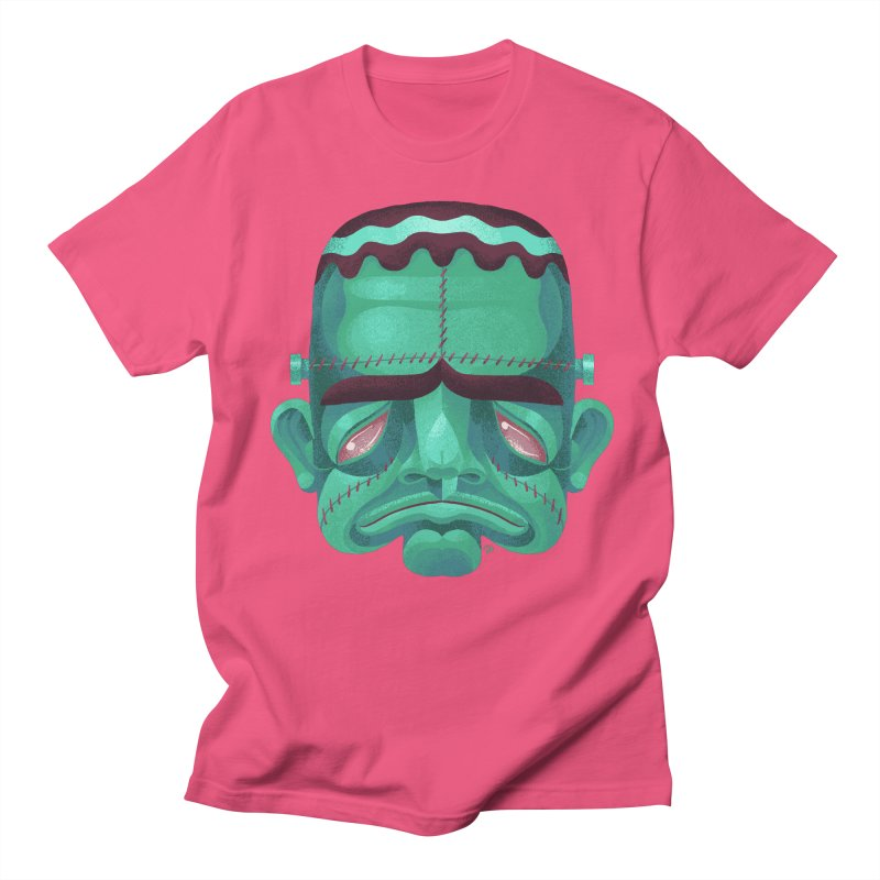 Spoooky Frank Men's Regular T-Shirt by Michael J Hildebrand's Artist Shop