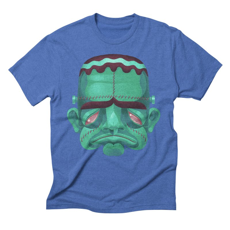 Spoooky Frank Men's Triblend T-Shirt by Michael J Hildebrand's Artist Shop