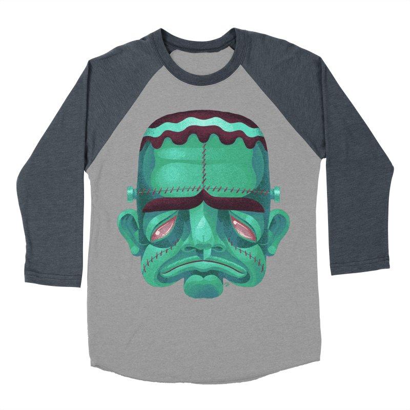 Spoooky Frank Men's Baseball Triblend Longsleeve T-Shirt by Michael J Hildebrand's Artist Shop