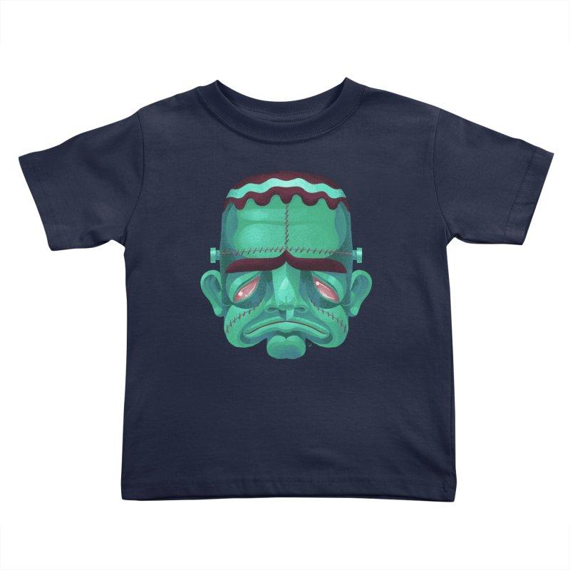 Spoooky Frank Kids Toddler T-Shirt by Michael J Hildebrand's Artist Shop