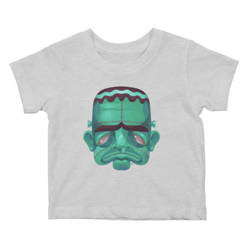 Spoooky Frank Kids Baby T-Shirt by Michael J Hildebrand's Artist Shop