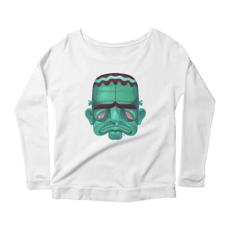 Spoooky Frank Women's Scoop Neck Longsleeve T-Shirt by Michael J Hildebrand's Artist Shop