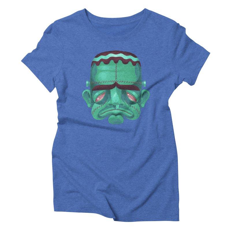 Spoooky Frank Women's Triblend T-Shirt by Michael J Hildebrand's Artist Shop