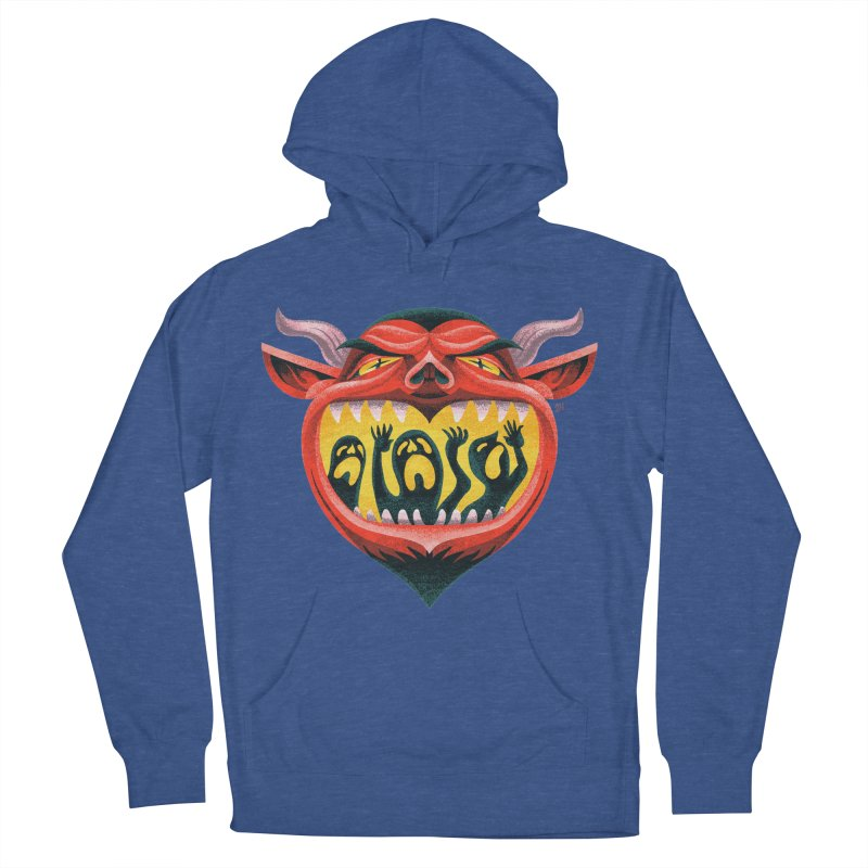 Spoooky Demon Men's French Terry Pullover Hoody by Michael J Hildebrand's Artist Shop