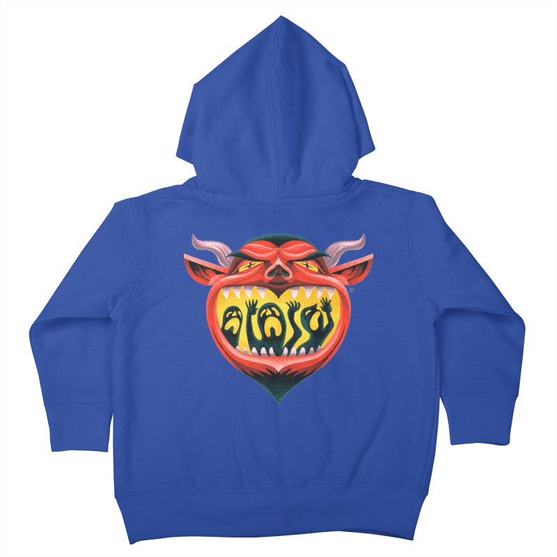 Spoooky Demon Kids Toddler Zip-Up Hoody by Michael J Hildebrand's Artist Shop