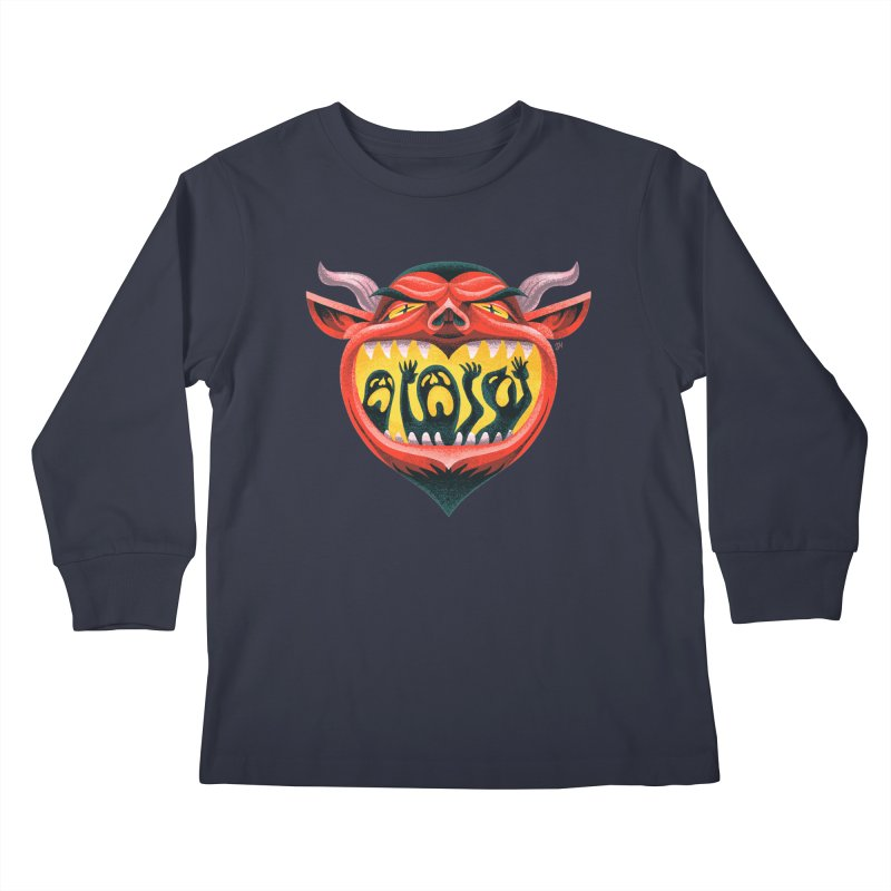 Spoooky Demon Kids Longsleeve T-Shirt by Michael J Hildebrand's Artist Shop