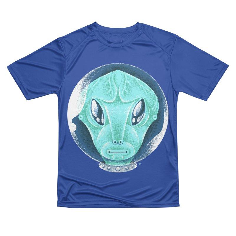 Spooky Alien Men's Performance T-Shirt by Michael J Hildebrand's Artist Shop