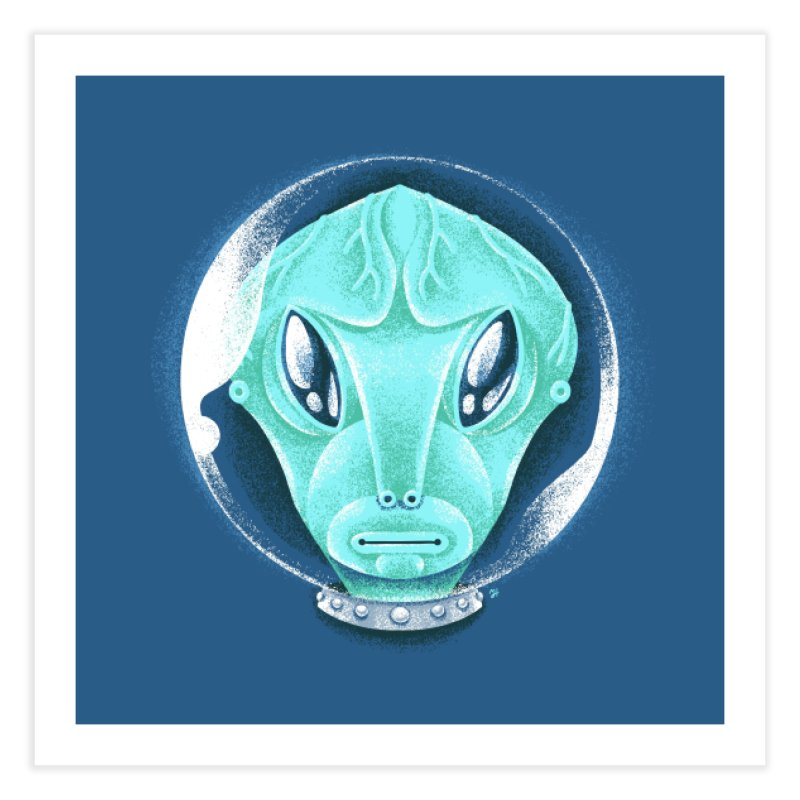 Spooky Alien Home Fine Art Print by Michael J Hildebrand's Artist Shop