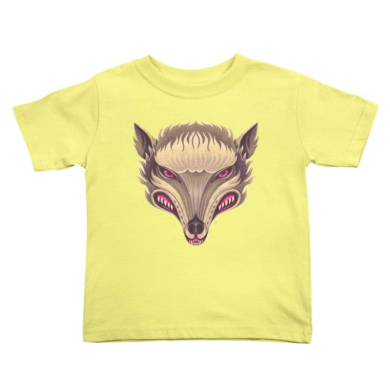 Spoooky Wolfman Kids Toddler T-Shirt by Michael J Hildebrand's Artist Shop