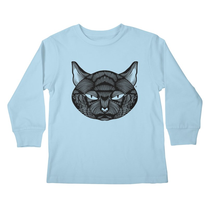 Spoooky Black Cat Kids Longsleeve T-Shirt by Michael J Hildebrand's Artist Shop