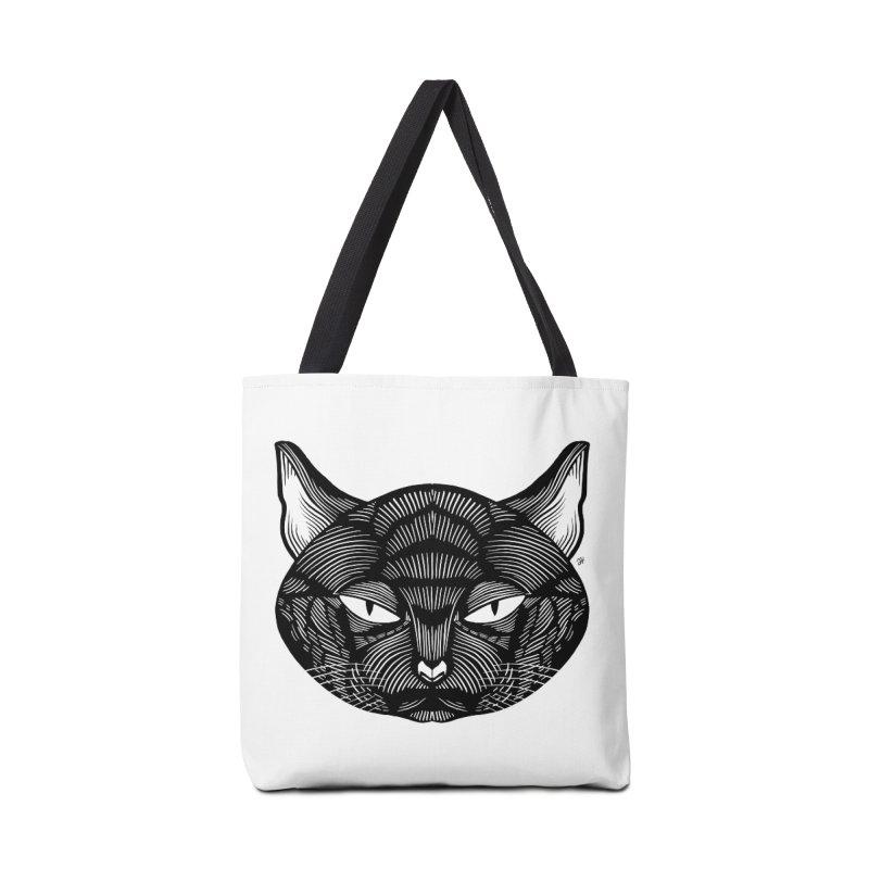 Spoooky Black Cat Accessories Tote Bag Bag by Michael J Hildebrand's Artist Shop