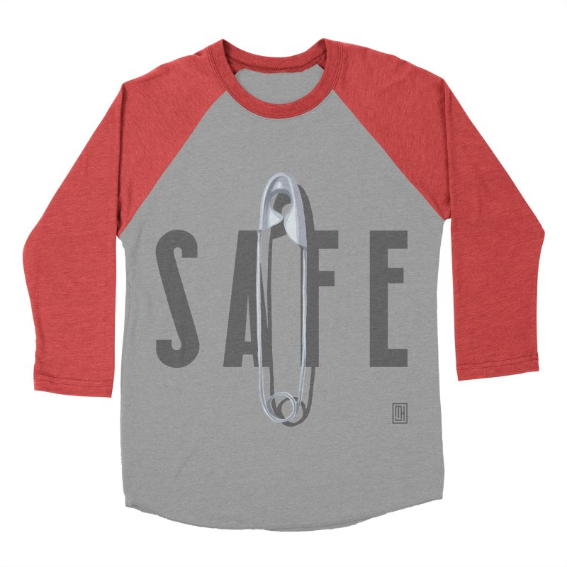 Safe Women's Baseball Triblend Longsleeve T-Shirt by Michael J Hildebrand's Artist Shop