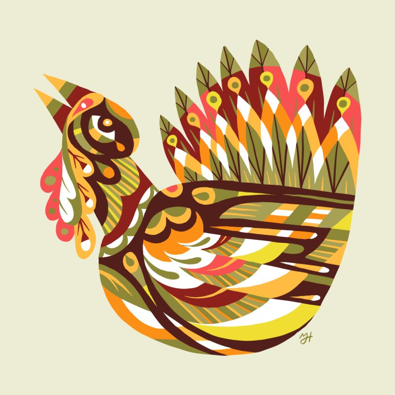 Turkey Lurkey (simple color) by Michael J Hildebrand's Artist Shop
