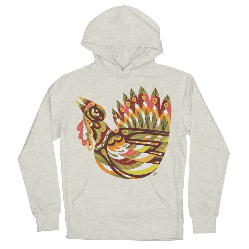 Turkey Lurkey (simple color) Women's French Terry Pullover Hoody by Michael J Hildebrand's Artist Shop