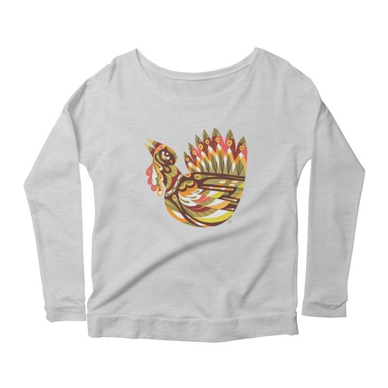 Turkey Lurkey (simple color) Women's Scoop Neck Longsleeve T-Shirt by Michael J Hildebrand's Artist Shop