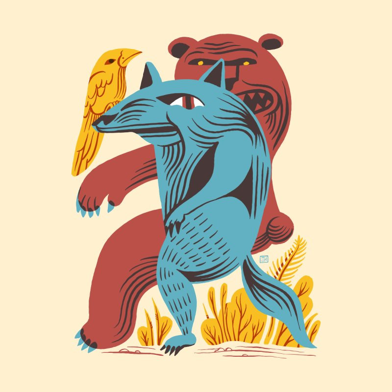 Wolf Bear by michaeljhildebrand's Artist Shop