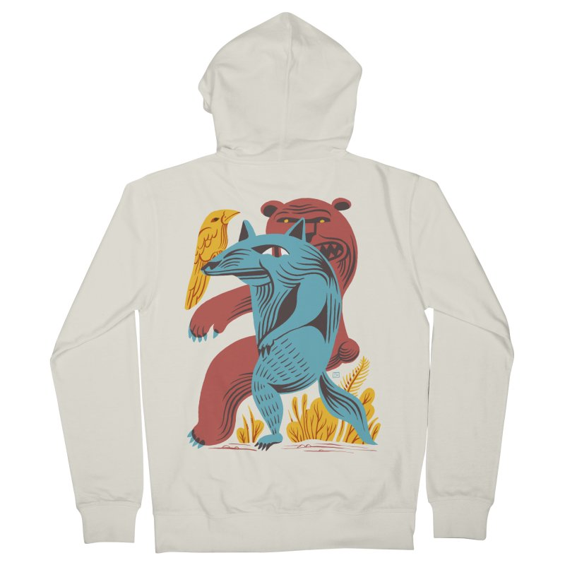 Wolf Bear Men's Zip-Up Hoody by michaeljhildebrand's Artist Shop