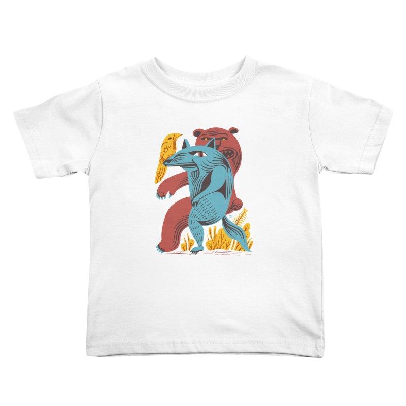 Wolf Bear Kids Toddler T-Shirt by michaeljhildebrand's Artist Shop