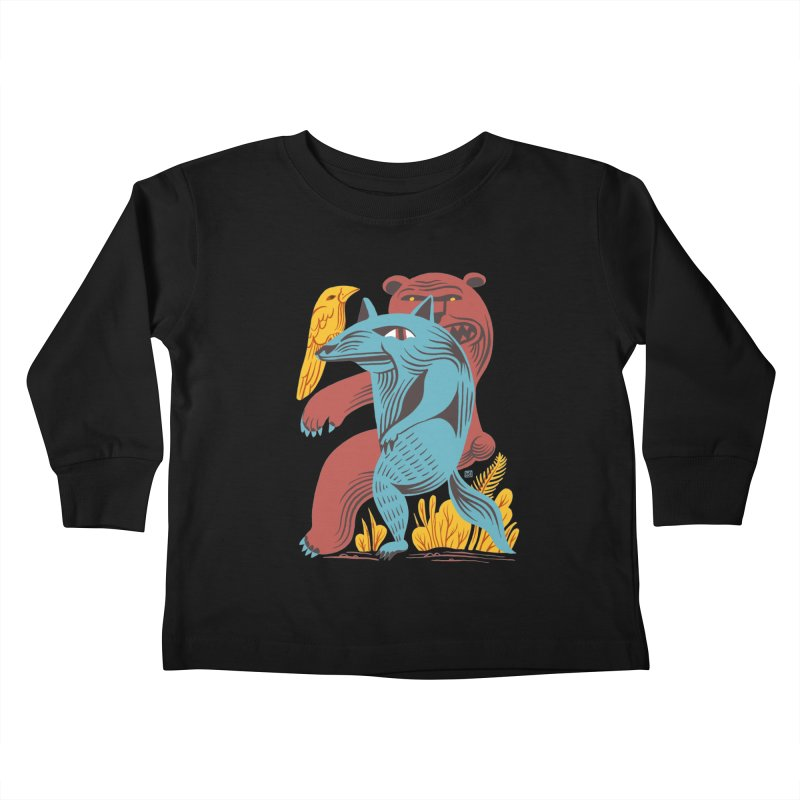 Wolf Bear Kids Toddler Longsleeve T-Shirt by michaeljhildebrand's Artist Shop