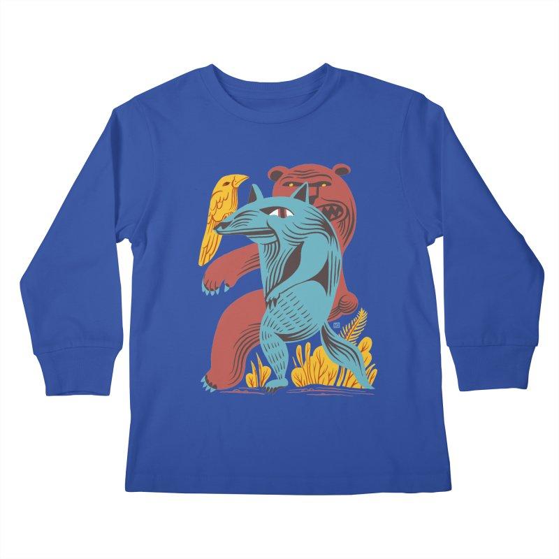 Wolf Bear Kids Longsleeve T-Shirt by michaeljhildebrand's Artist Shop