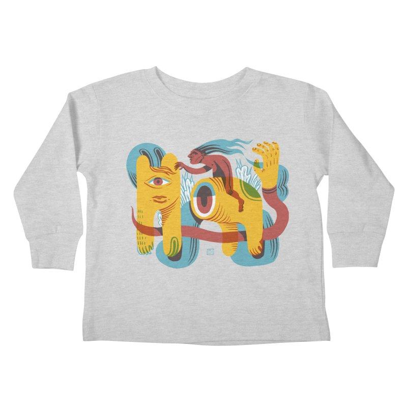 Ride Around Kids Toddler Longsleeve T-Shirt by michaeljhildebrand's Artist Shop
