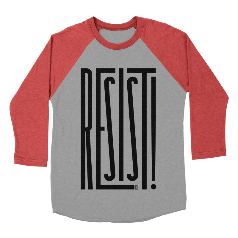 RESIST! Women's Baseball Triblend Longsleeve T-Shirt by Michael J Hildebrand's Artist Shop