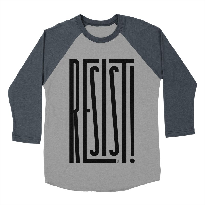 RESIST! Men's Baseball Triblend T-Shirt by michaeljhildebrand's Artist Shop